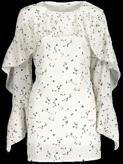 Flounce Ruffles Tiny Floral Mini Dress - PALOMINO M Mobile