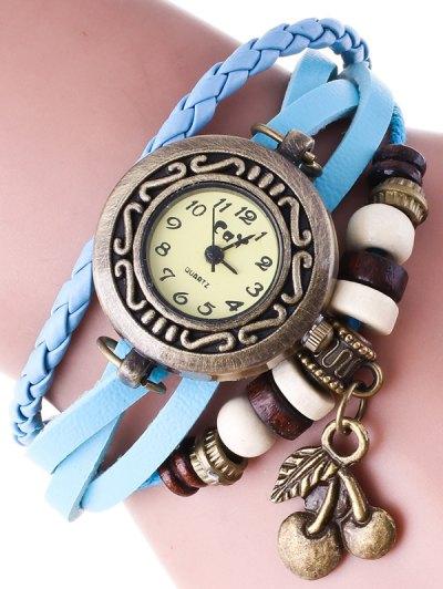 Braided Strand Bracelet Watch - AZURE  Mobile