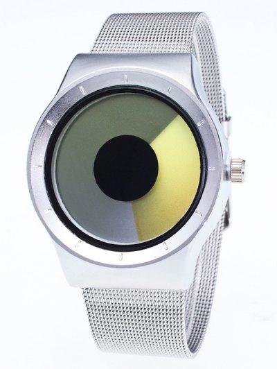 Metal Mesh Ombre Quartz Watch - YELLOW  Mobile