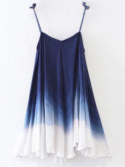 Ombre Trapeze Slip Dress - PURPLISH BLUE L Mobile