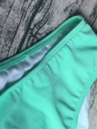 Wrap Tie Crossover Cami Bikini - LIGHT GREEN S Mobile