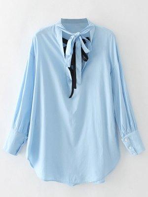 Recortable Bowknot De La Blusa - Azul