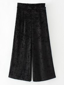 Loose Velvet Wide Leg Pants