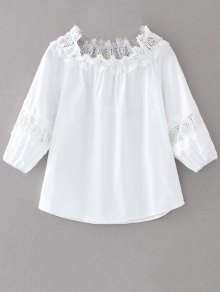 Off The Shoulder Lacework Blouse