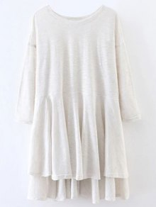 Slit High Low Long Smock T-Shirt