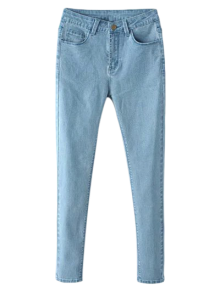 High Waisted Zip Fly Jeans