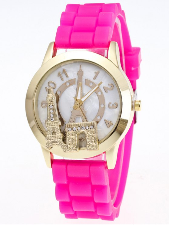Eiffel Tower Silicone Quartz Watch - TUTTI FRUTTI  Mobile