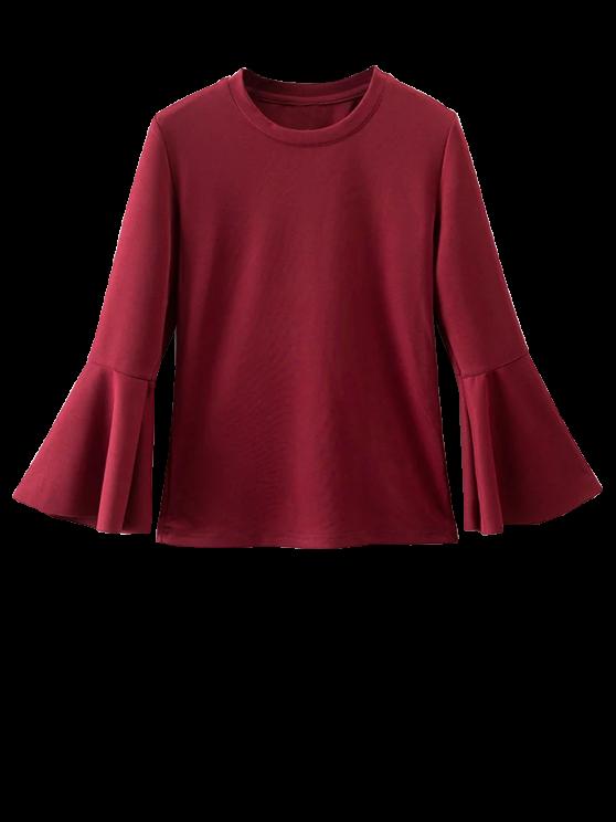 Volantes blusa de la manga - Burdeos M