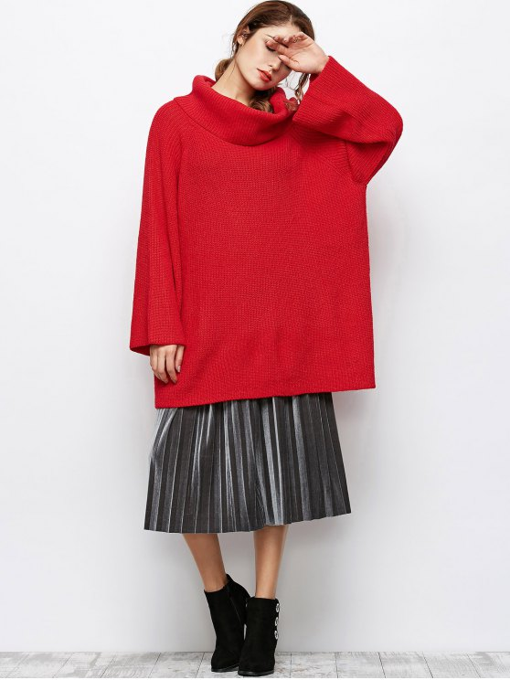 Oversized Chunky Sweater - RED M Mobile