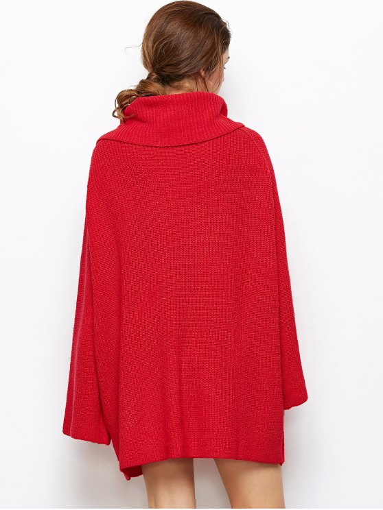 Oversized Chunky Sweater - RED S Mobile