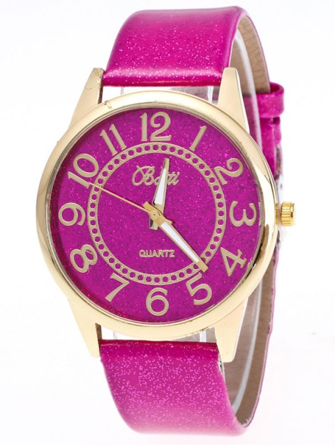 womens Faux Leather Glitter Number Watch - TUTTI FRUTTI  Mobile