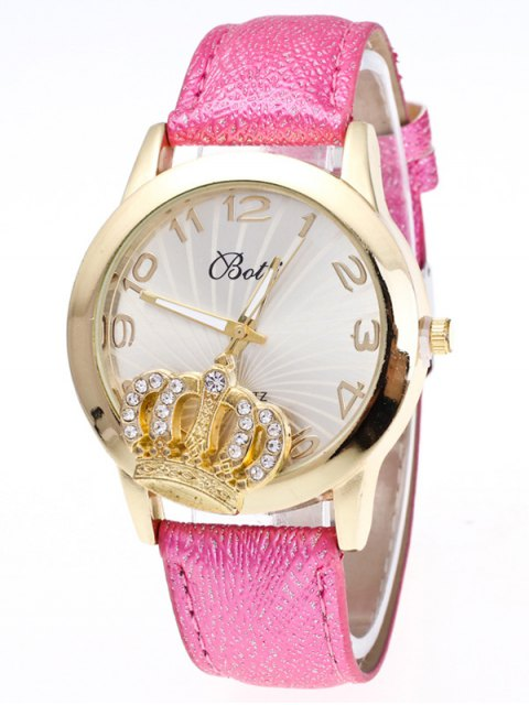 online Faux Leather Crown Number Watch - TUTTI FRUTTI  Mobile