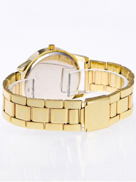 fashion Rhinestone Butterfly Number Watch - GOLDEN  Mobile