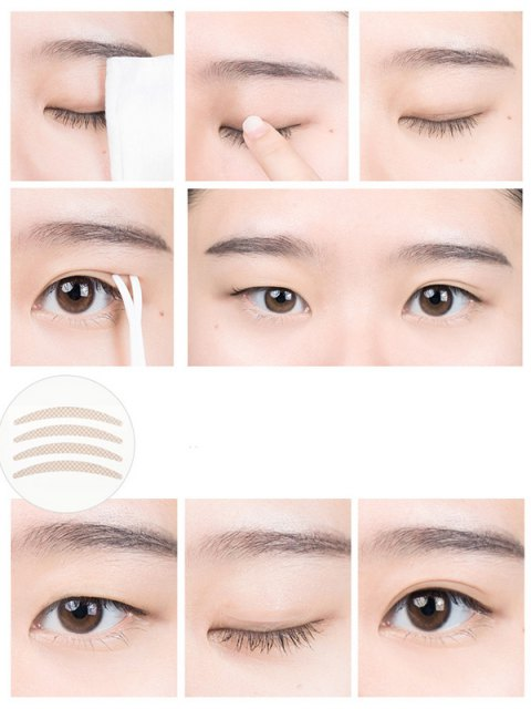 shop Invisible Double Eyelid Tape - YELLOWISH PINK  Mobile