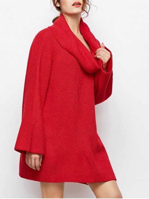 sale Oversized Chunky Sweater - RED L Mobile
