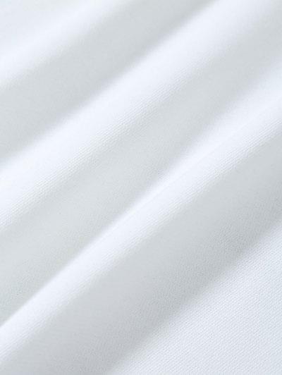 Casual Color Block Sweatshirt - WHITE S Mobile