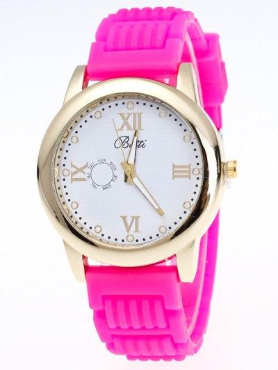 Silicone Roman Numerals Quartz Watch - TUTTI FRUTTI  Mobile