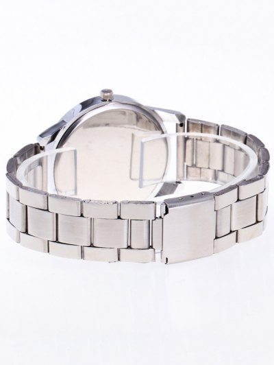 Rhinestone Butterfly Number Watch - SILVER  Mobile