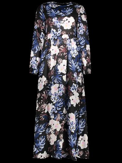 Printed Maxi Dress - BLACK XL Mobile