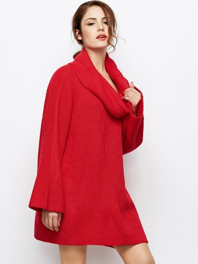 Oversized Chunky Sweater - RED XL Mobile