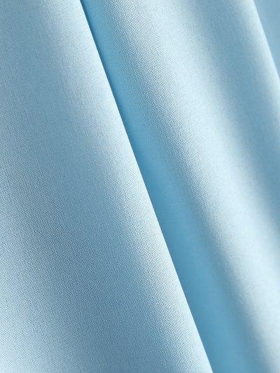 Lace-Up Shirt - LIGHT BLUE L Mobile