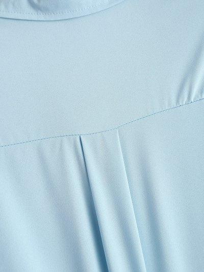 Lace-Up Shirt - LIGHT BLUE S Mobile