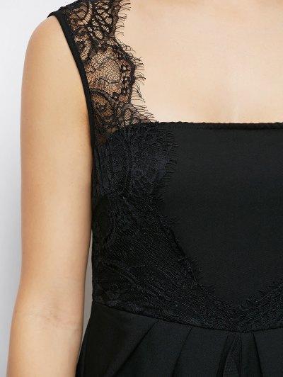 Lace Panel Sleeveless Prom Maxi Dress от Zaful.com INT