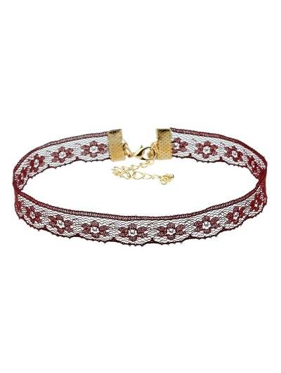 Velvet Lace Triangle Necklaces - BLACK  Mobile