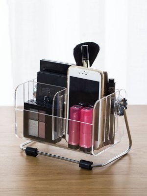 Desktop Container Makeup Organizer - Transparent