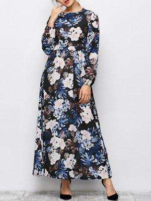 Printed Maxi Dress - Black