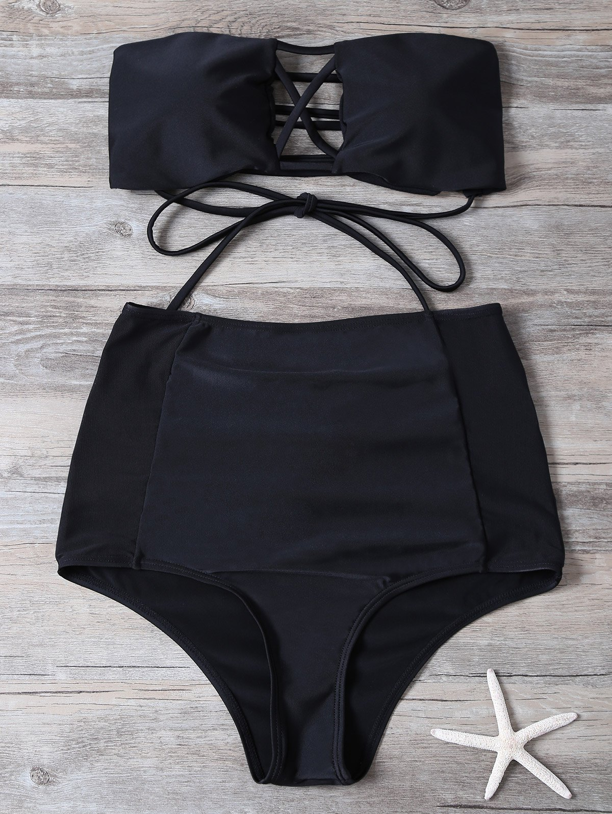 Cut Out High Waisted Bikini Set