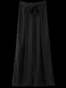 Belted Culotte Pants - Black