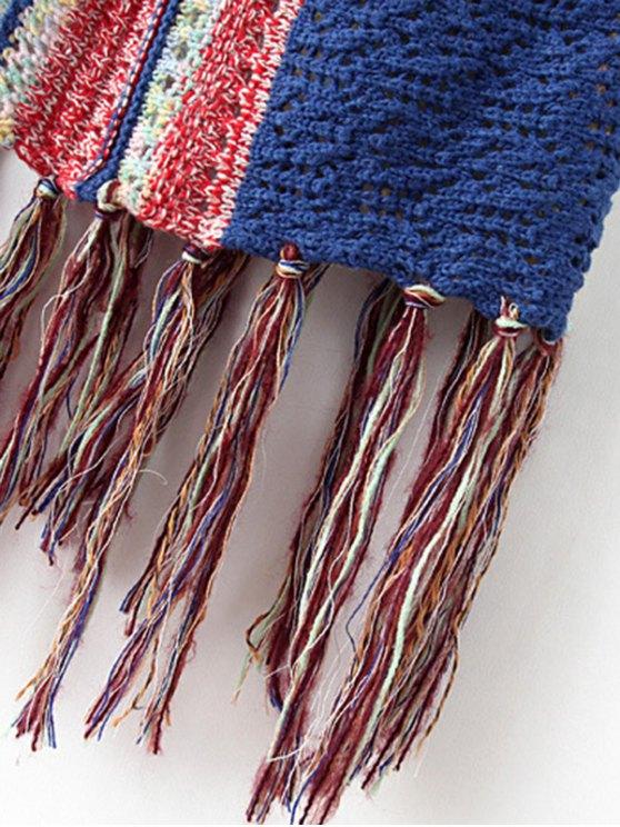 Knitted Tasselled Vest - KHAKI ONE SIZE Mobile