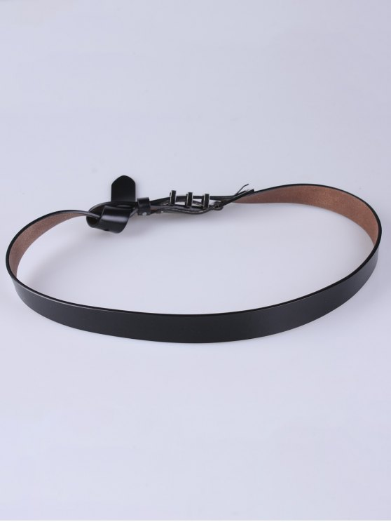 Alloy Pin Buckle Belt - BLACK  Mobile