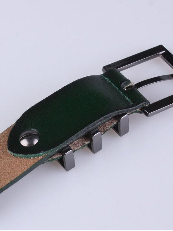 Alloy Pin Buckle Belt - BLACKISH GREEN  Mobile