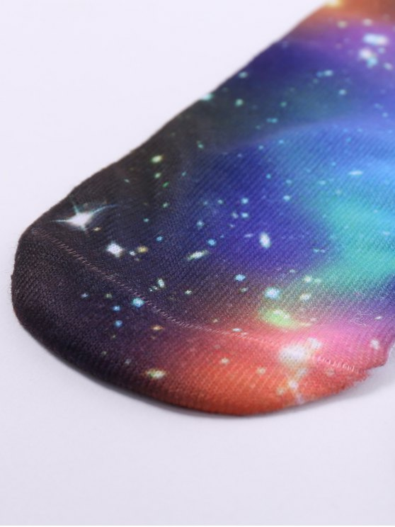 One Side 3D Galaxy Printed Crazy Ankle Socks - COLORMIX  Mobile