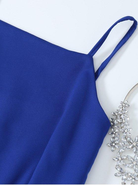 Cami Party Wear Dress For Women - SAPPHIRE BLUE L Mobile