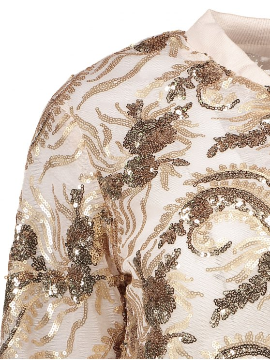 Punk Gilding Zipper Jacket - ROSE GOLD 2XL Mobile