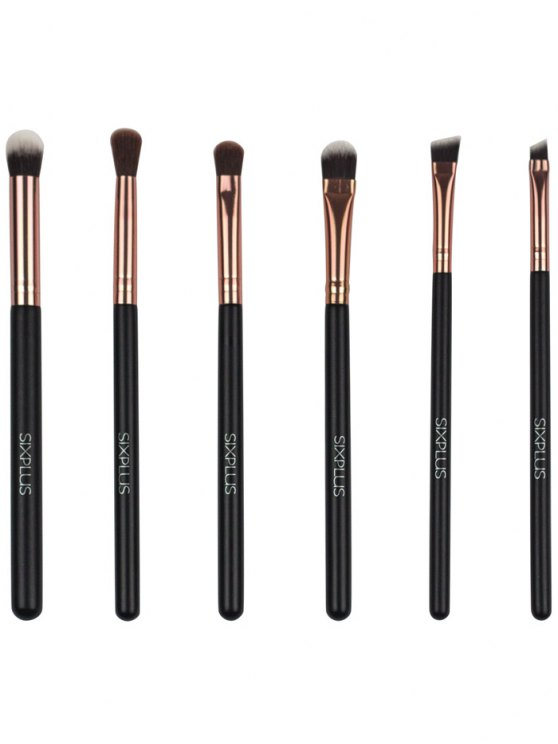 11 Pcs Nylon Makeup Brushes Kit - DEEP BROWN  Mobile