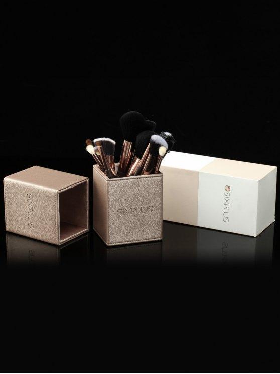 15 Pcs Makeup Brushes Kit - COFFEE  Mobile