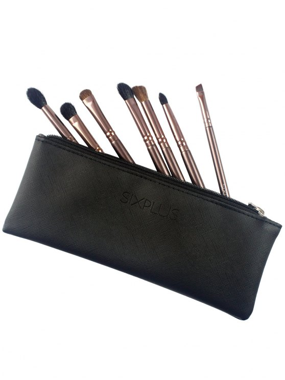7 Pcs Eye Makeup Brushes Kit - COFFEE  Mobile