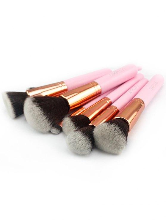 Set 11 Piezas Cepillos Maquillaje Y Bolsa Con Cremallera - Rosa