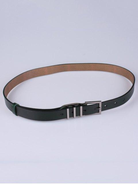 buy Alloy Pin Buckle Belt - BLACKISH GREEN  Mobile
