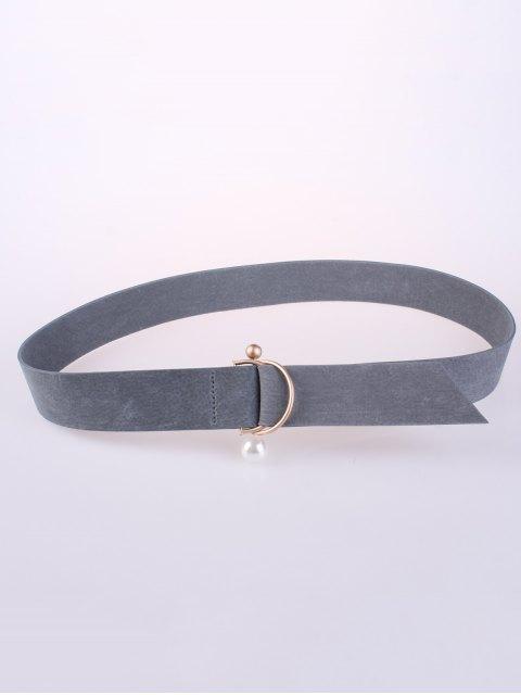 lady D Buckle Faux Suede Waist Belt -   Mobile
