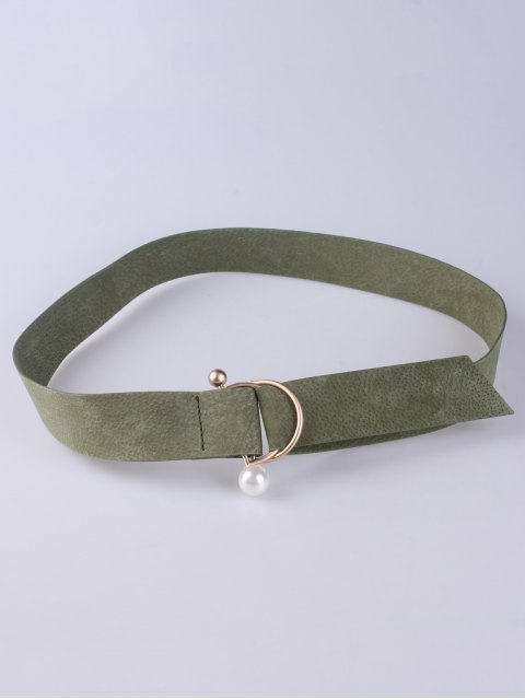 new D Buckle Faux Suede Waist Belt - ARMY GREEN  Mobile