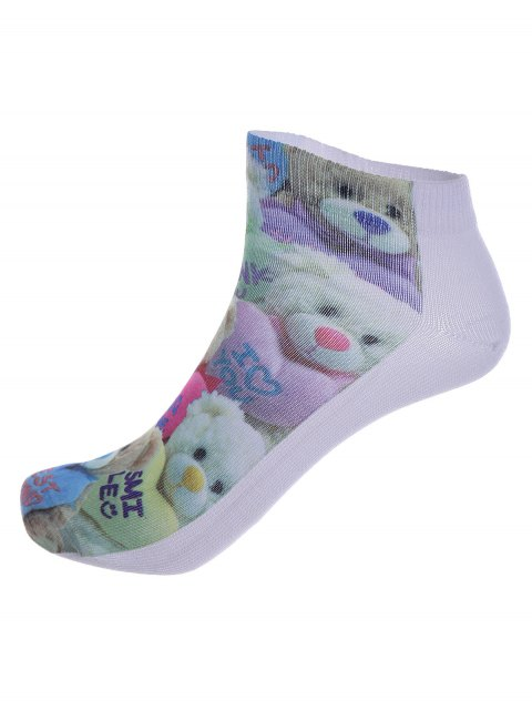 socquettes a motif one side jouets ours en 3D - Multicolore  Mobile