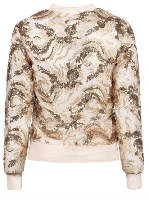 ladies Punk Gilding Zipper Jacket - ROSE GOLD 2XL Mobile