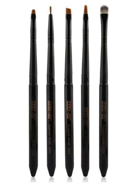 outfits 5 Pcs Covered Makeup Brushes Set -   Mobile