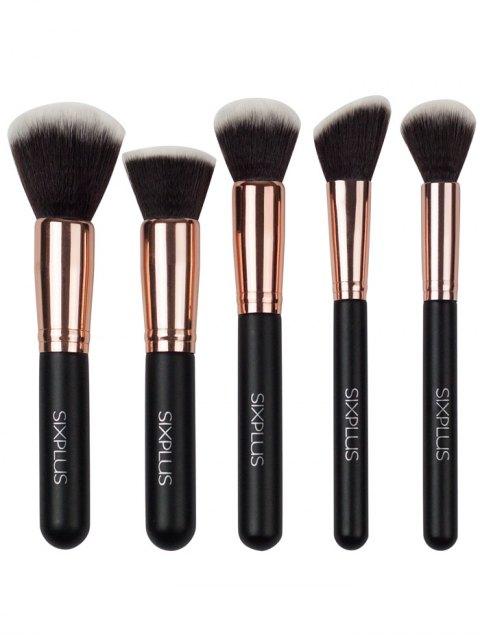 shop 11 Pcs Nylon Makeup Brushes Kit - DEEP BROWN  Mobile