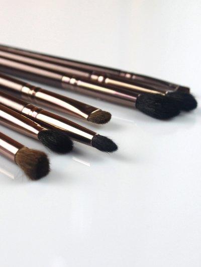 7 Pcs Eye Makeup Brushes Kit - COFFEE  Mobile